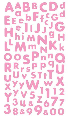 number stickers pink - 3