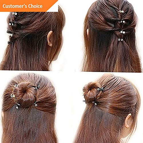 Hebel 12 Pcs Crystal Flower Mini Hair Claw Clamp Hair Clip Hair Pins Hair Accessory HQ | Model HRPN - 5189 |
