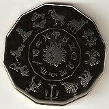 Black Scorpio Commerative Poker Guard Coin Large