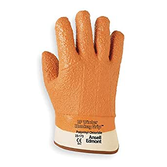 Cold Protection Gloves, PVC, L, Tan, PR 23-173