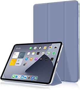 Aoub Case for iPad Pro 11 2020, Rebound Magnetic Attachment Smart Cover [Supports Pencil Pairing & Charging], Ultra Slim Trifold Stand Case for iPad New Pro 11 inch, Lavender