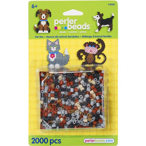 - Perler Beads Pet Mix Assorted Fuse Beads For Kids Crafts, 2000 pcs