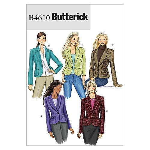 BUTTERICK PATTERNS B4610 Misses' Jacket, Size AA (6-8-10-12) B4610AA