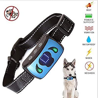 Water proof anti bark dog training collar stop bark no shock sound /& vibration