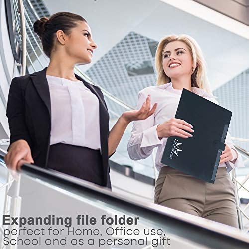 Plastic Expanding File Folder Organizer | File Folders Organizer for Paper with 5 Pockets Plastic File Folders Filing Organizer by Lizz Express Photo #7