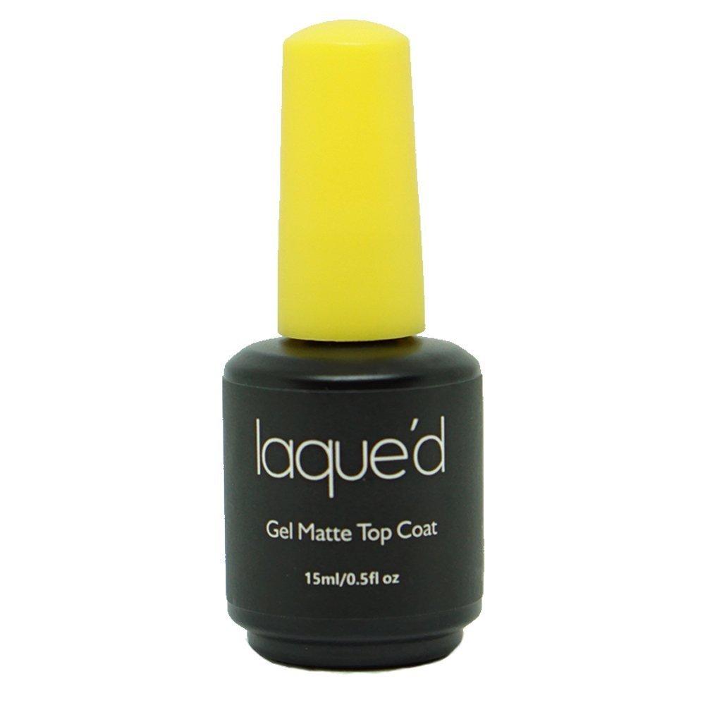 LAQUE'D by LAQUE Gel Matte Top Coat UV/LED Soak Off, 0.5 FL oz by LAQUE'D