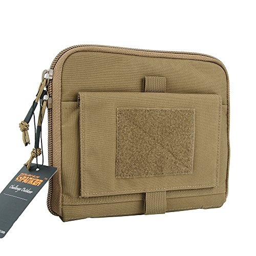 EXCELLENT ELITE SPANKER Molle Admin Pouch Camo Tool Bag Military Nylon Tactical Waist Utility Molle Pouch(Coyote Brown)