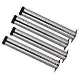 BQLZR 350mm Height Adjustable Stainless Steel Cabinet Office Sofa Coffee Table TV Bed Legs Feets Pack of 4