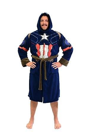 Marvel Universe Captain America Civil War Mens Fleece Costume Robe Blue 34225936a