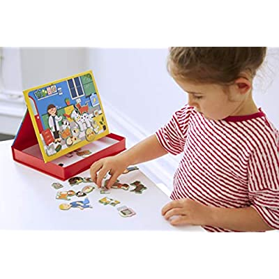 Petit Collage Magnetic Play Scene, Pet Hospital, Ages 4+ Years: Toys & Games