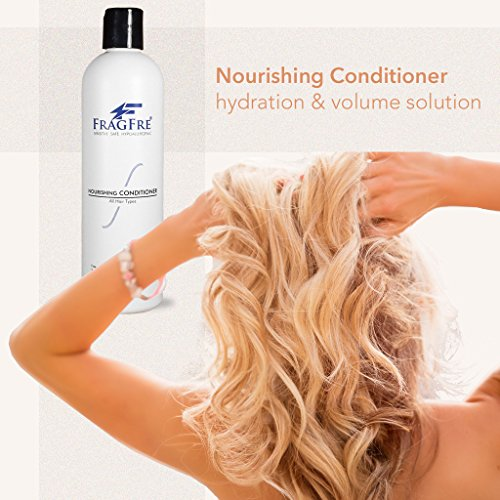 FRAGFRE Hair Conditioner: Fragrance Free Sulfate & Parabens Free - Hypoallergenic Conditioner for Sensitive Skin - Irritant Free Deep Conditioning for Normal, Treated & Fragile Hairs: 12oz Gluten Free (Normal Full Volume Shampoo)