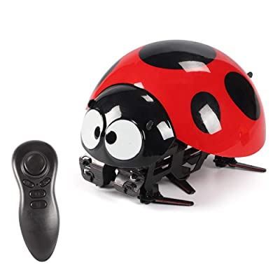 DUOUH Remote Control Intelligent Seven-Star Ladybug Robot, Educational Children's Toys (Multiple Modes): Home & Kitchen