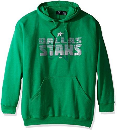 (NHL Dallas Stars Pullover Hood with Print, 3X, Kelly)