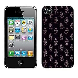 iKiki-Tech Estuche rígido para Apple iPhone 4 4S - Skull And Rose