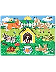 Melissa & Doug Knopp-pussel i trä - husdjur , Pussel , Trä , 2+ , Present till pojke eller flicka
