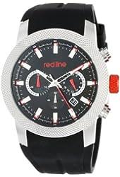 red line Men's RL-10017-01 Gauge Analog Display Japanese Quartz Black Watch