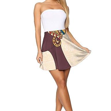 GULTMEE Falda Corta para Mujer con diseño de Mujer Africana en ...