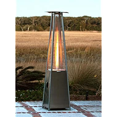 XtremepowerUS Stainless Steel Pyramid Type Flame Glass Tube Patio Heater