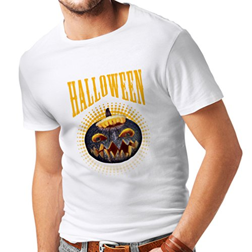T Shirts for Men Halloween Pumpkin - Clever Costume Ideas 2017 (XXXX-Large White Multi Color) ()