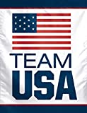 "OLYMPICS USOC Team USA Logo Vertical Flag, 27"" x 37"""