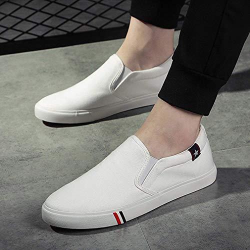 Casual Scarpe Scarpe Canvas Uomo On da junkai Shoes Slip Donna Sportive Ginnastica Basse Bianca Unisex Adulto Sneaker Mocassini Estivi SFqCwx7P