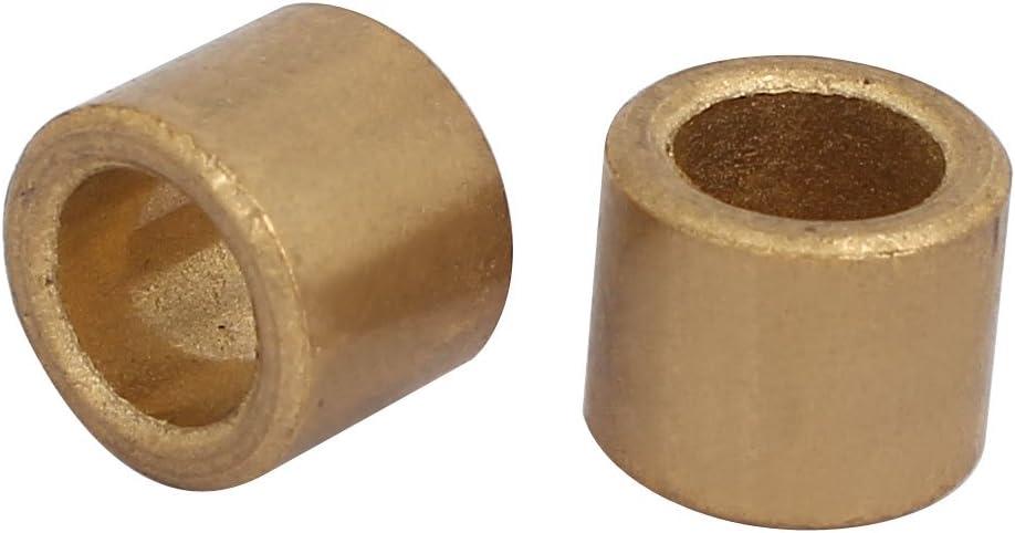 5 PCS Aexit Roulements en laiton /à manchon de bague auto-lubrifiant de 10 mm x 16 mm x 15 mm
