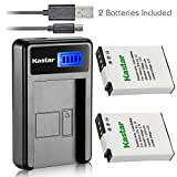 Kastar Battery (X2) & LCD Slim USB Charger for Nikon EN-EL12, ENEL12, MH-65 Coolpix S9900, S9700, AW120, S9500, AW110, S70, S9600, S6300, S6200, S8100, S9100, S800c, S31 Digital Cameras + More
