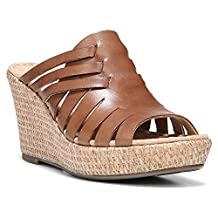 Naturalizer Womens Noely Leather Slide Wedge Sandals
