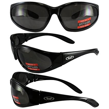 61ad9230b7 Amazon.com  Hercules Safety Glasses - Black Frame - Smoke Lens by ...