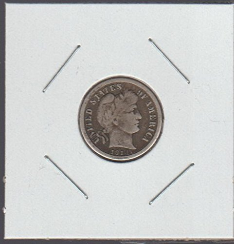 1914 Barber or Liberty Head (1892-1916) Dime Choice Extremely Fine