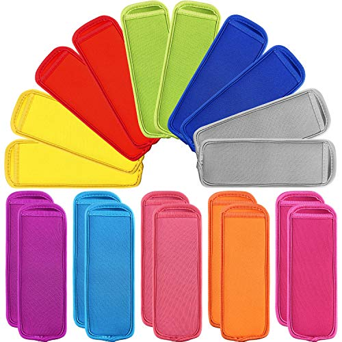 20 Pieces Ice Pop Sleeves Holders Popsicle Covers Antifreezing Popsicle Holders Reusable Neoprene Popsicle Holder Bags, 10 -
