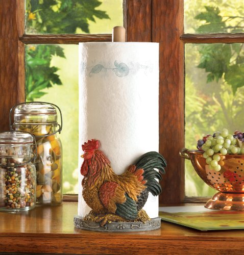 Gifts & Decor Country Red Rooster Paper Towel Holder