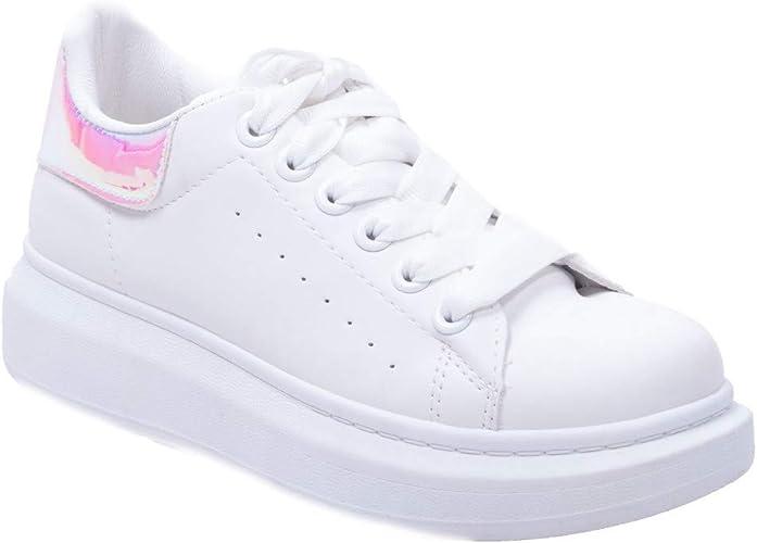 baskets blanches semelles epaisses