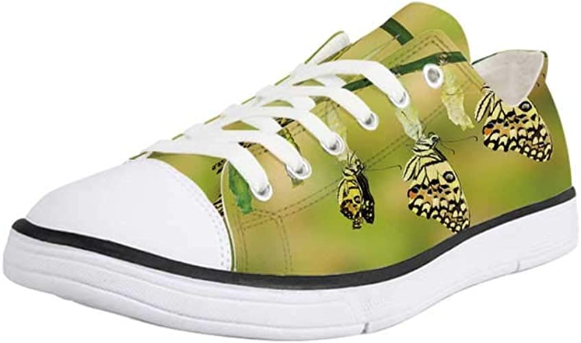 Canvas High Top Sneaker Casual Skate Shoe Boys Girls Lovely Lion Heads