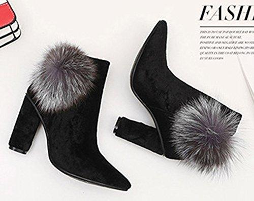 Boots Fourr Fermeture Aisun Mode Eclair Low Femme qxBUZRwat