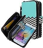 Galaxy S6 EDGE case, E LV Samsung Galaxy S6 EDGE Case Cover - PU Leather Flip Folio Wallet PURSE Case Cover for Samsung Galaxy S6 EDGE - [ZIGZAG]