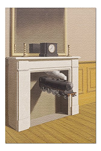 Time Transfixed - (Artist: Rene Magritte) c.1938 - Masterpiece Classic (20x30 Premium 1000 Piece Jigsaw Puzzle, Made in ()
