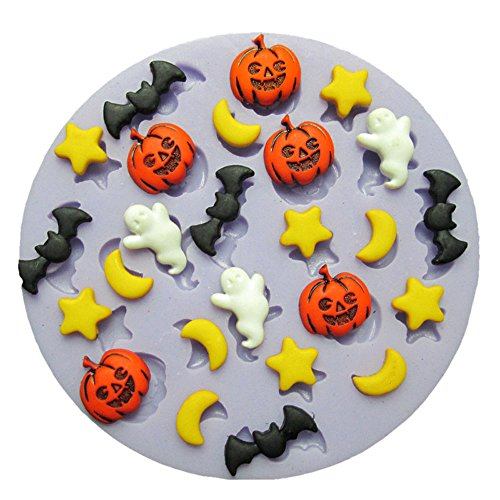 Price comparison product image Yunko Halloween Night Pumpkin Moon Ghost Fondant Pudding Cake Mold Silicone Mold Chocolate Mold