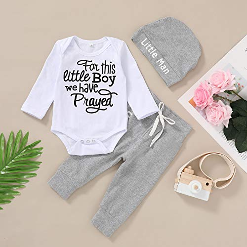 Newborn Baby Boy Outfits Ladie's I Have Arrived Letter Print Romper+Camouflage Pants+Hat 3PCS Clothes Set