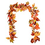 DearHouse-2-Pack-Fall-Garland-Maple-Leaf-59FtPiece-Hanging-Vine-Garland-Artificial-Autumn-Foliage-Garland-Thanksgiving-Decor-for-Home-Wedding-Fireplace-Party-Christmas
