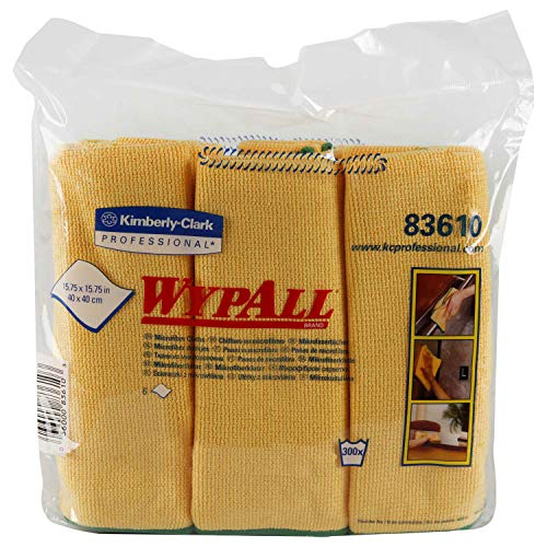 83610 Wypall Cloths - Wypall Microfiber Cloths W/Microban, 15-3/4