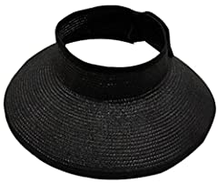 If you spent last summer folding and mashing your straw hat out of shape, you definitely need to consider this smart and trendy visor.Adjustable velcro closure provides every head a comfortable fit for all-day wear.Material: StrawSize: Adjust...