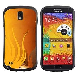 Suave TPU GEL Carcasa Funda Silicona Blando Estuche Caso de protección (para) Samsung Note 3 / CECELL Phone case / / Yellow Lady Hair Woman Painting Classy /