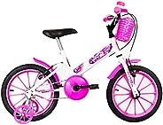 Bicicleta Infantil Ultra Kids Unicorn Mod. T Aro 16 Branco/Rosa