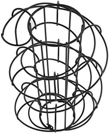 Smono Almacenamiento de huevos Cesta en espiral Dispensador de espiral de huevo Estante de Alambre Cesta de hierro de huevos para decoraci/ón de sala o cocina Canasta de huevos en espiral
