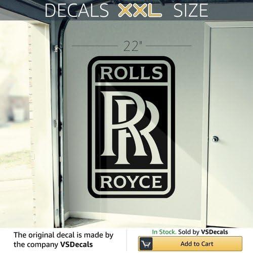 X2 Rolls Royce Logo Sticker Decal Window Wall book Bottle Coffee