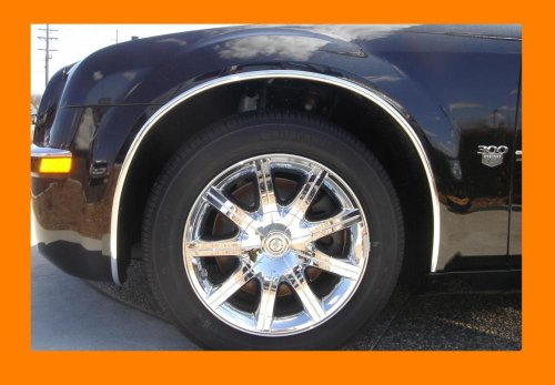 2007-2012 CADILLAC ESCALADE CHROME WHEEL WELL MOLDINGS FENDER TRIM KIT 4PC 2008 (Cadillac Escalade Fender Trim)