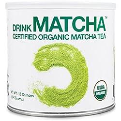 Drink Matcha -1 LB Matcha Green Tea Powder - USDA Organic - 100% Pure Organic Matcha Green tea Powder - Nothing added (16 oz)
