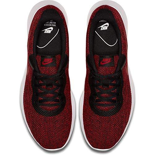 Nike Men's Tanjun Sneakers, Breathable Textile, Black/Gym Blue/White, Size 11.0