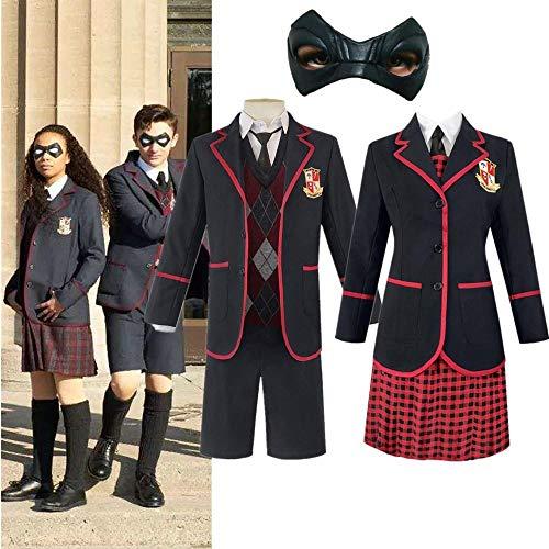Mujer Hombre The Umbrella Academy Número Cinco Disfraz de Cosplay Vestidos de Halloween Ropa universitaria